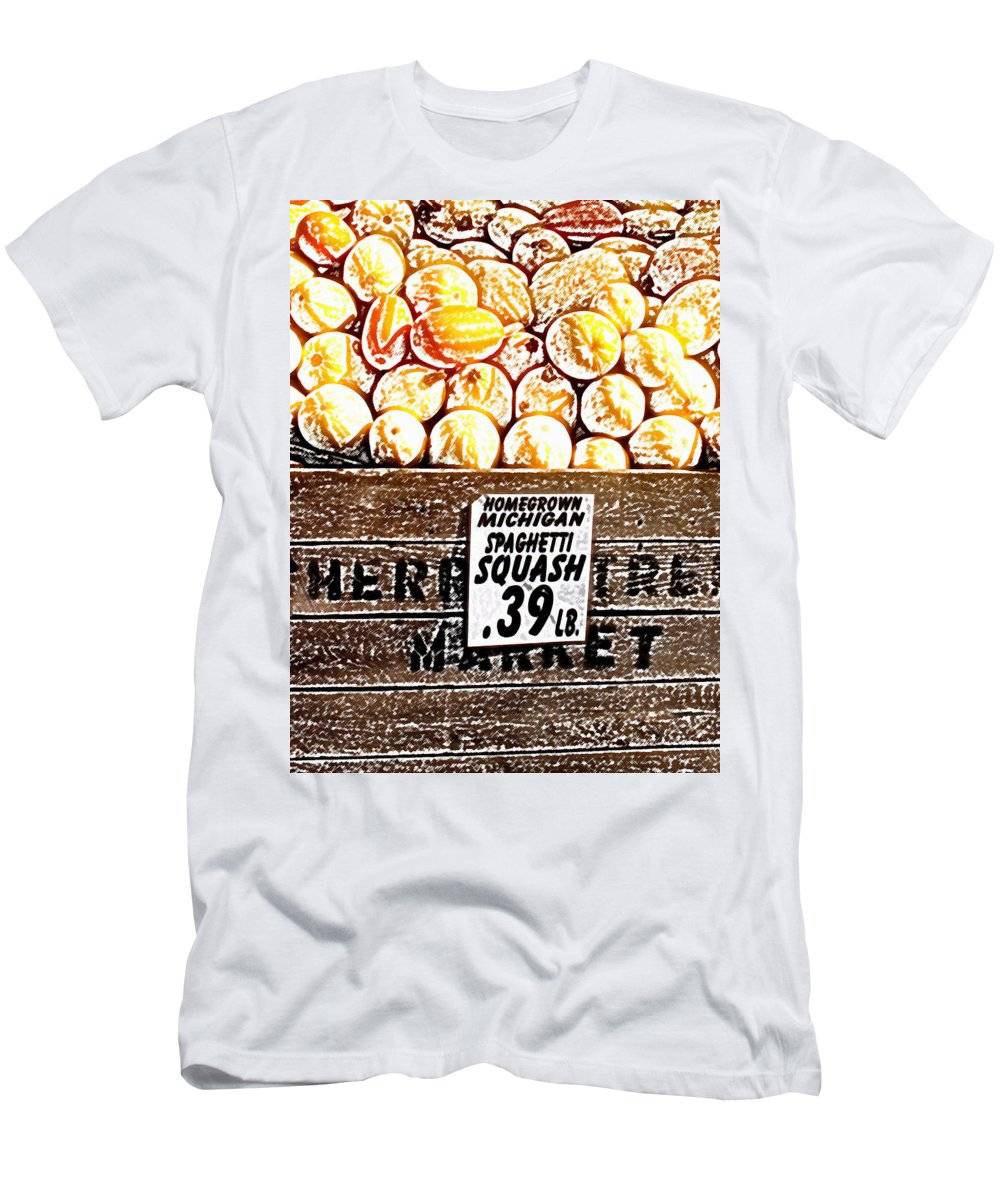Altered Men's T-Shirt (Athletic Fit) featuring the photograph Michigan Squash For Sale by Wayne Potrafka
