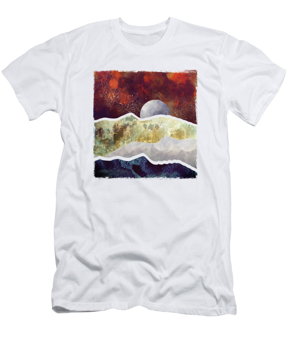 Milky Way Men's T-Shirt (Athletic Fit) featuring the digital art Milky Way by Katherine Smit