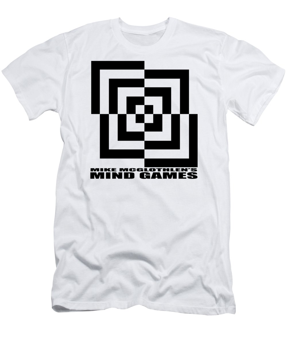 T-shirt Men's T-Shirt (Athletic Fit) featuring the digital art Mind Games 10se by Mike McGlothlen