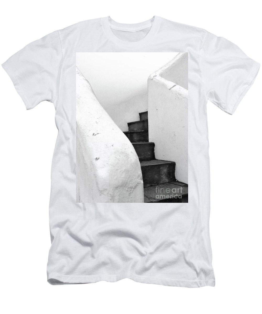 Minimal Men's T-Shirt (Athletic Fit) featuring the photograph Minimal Staircase by PrintsProject