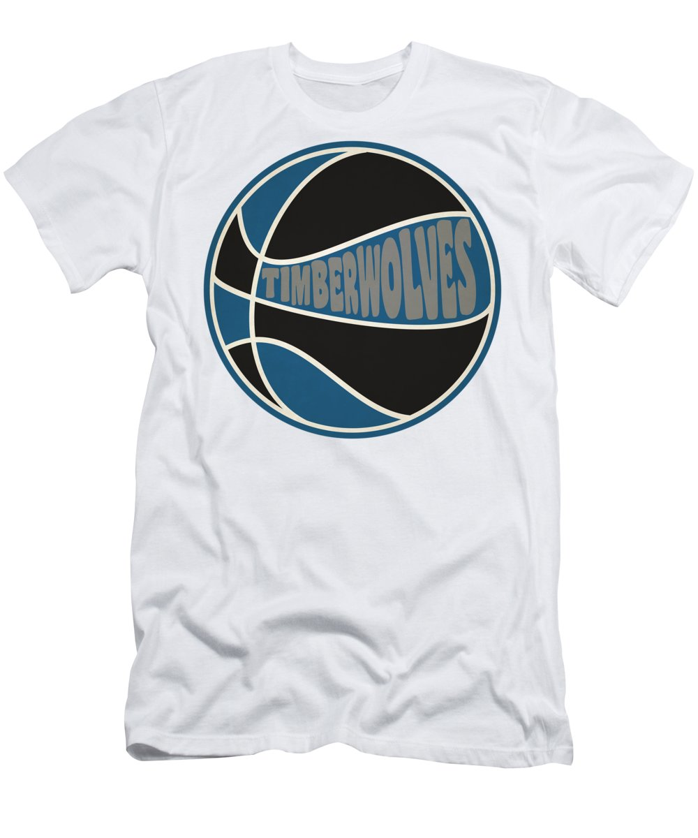 Timberwolves Men's T-Shirt (Athletic Fit) featuring the photograph Minnesota Timberwolves Retro Shirt by Joe Hamilton