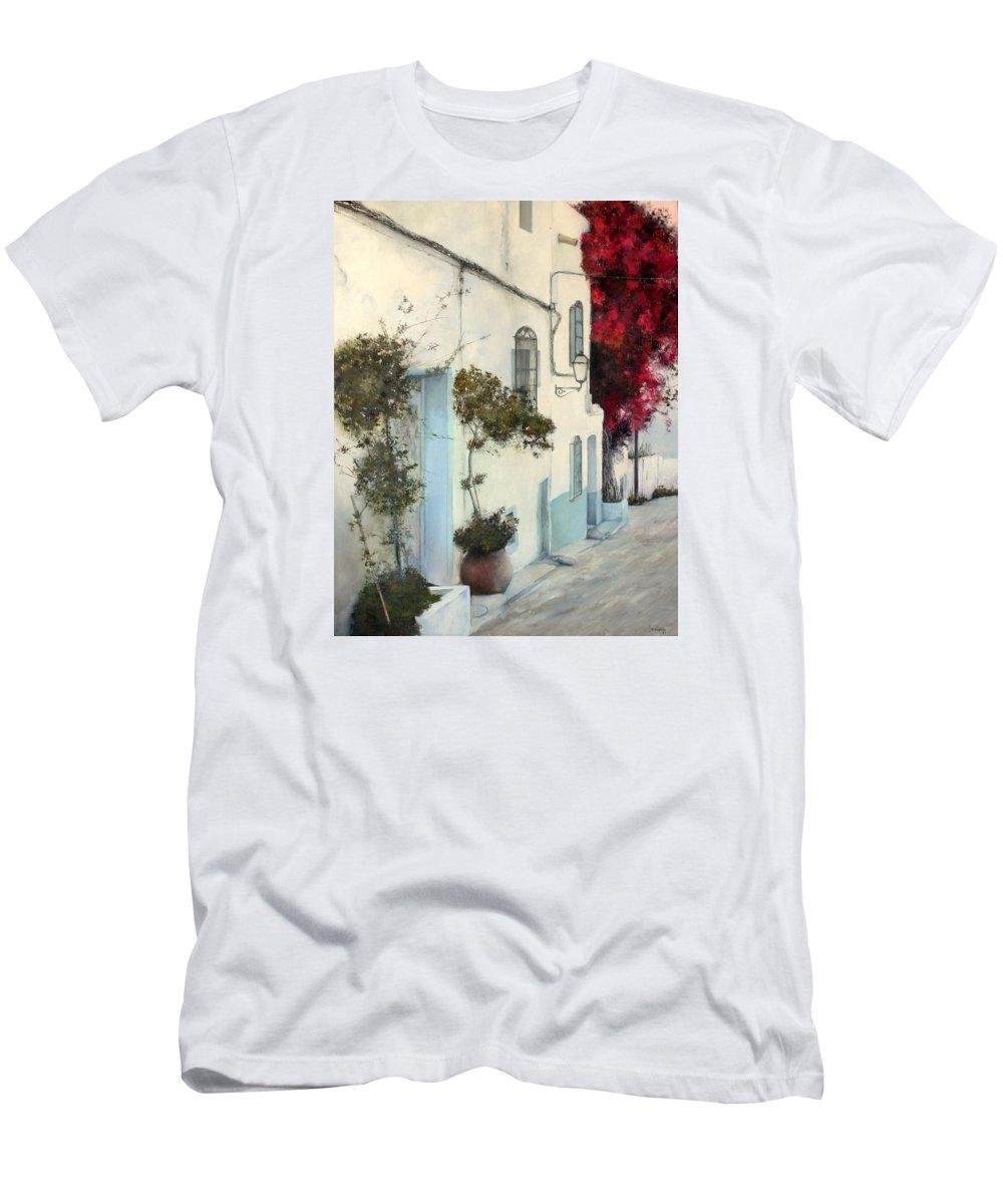 Mojacar T-Shirt featuring the painting Mojacar by Tomas Castano