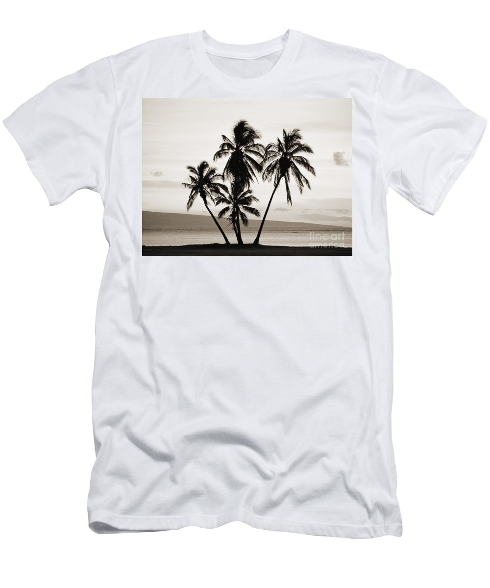 Afternoon Men's T-Shirt (Athletic Fit) featuring the photograph Molokai Palms by Allan Seiden - Printscapes