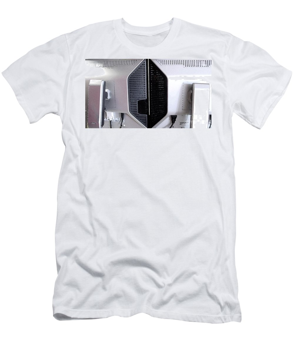 Monitor Men's T-Shirt (Athletic Fit) featuring the digital art Monitaur by Ron Bissett