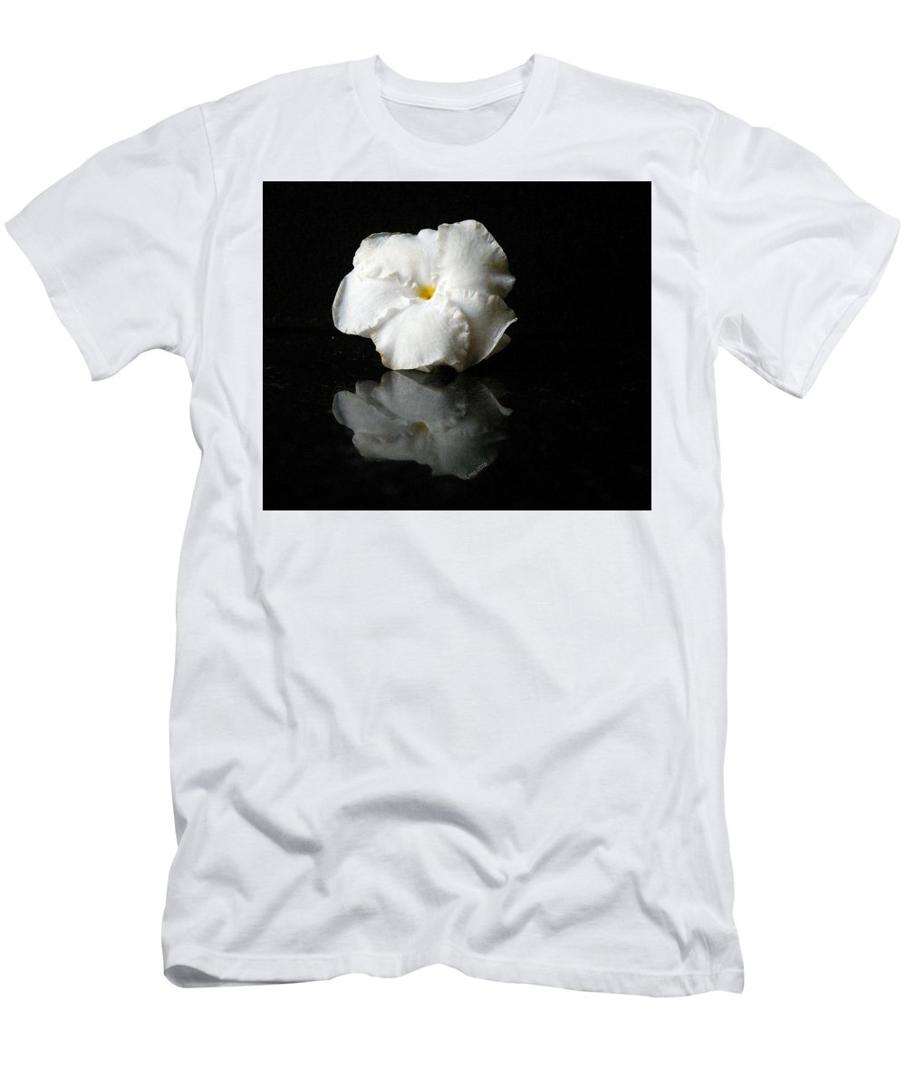 Moonbeam Flower Men's T-Shirt (Athletic Fit) featuring the digital art Moonbeam Flower by Uma Krishnamoorthy