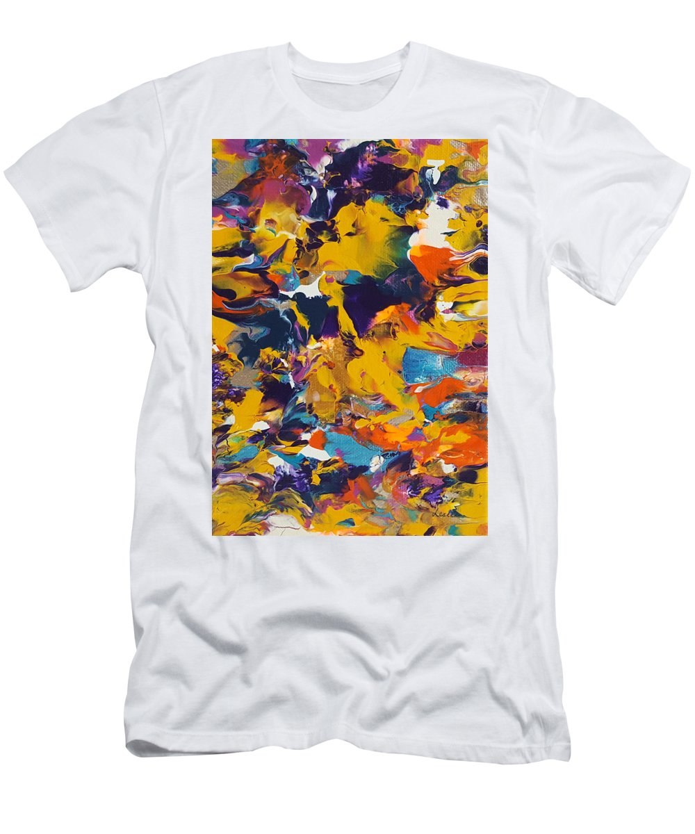 Abstract Painting Men's T-Shirt (Athletic Fit) featuring the painting Morning Madness by Leslie Joy Ferguson