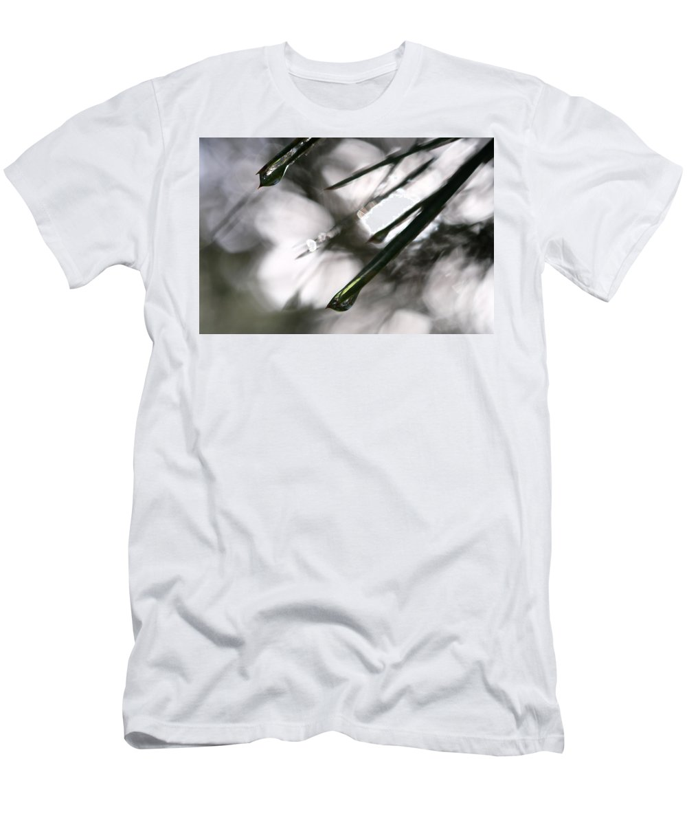 Water Men's T-Shirt (Athletic Fit) featuring the photograph Morning Shower by Jessica Myscofski