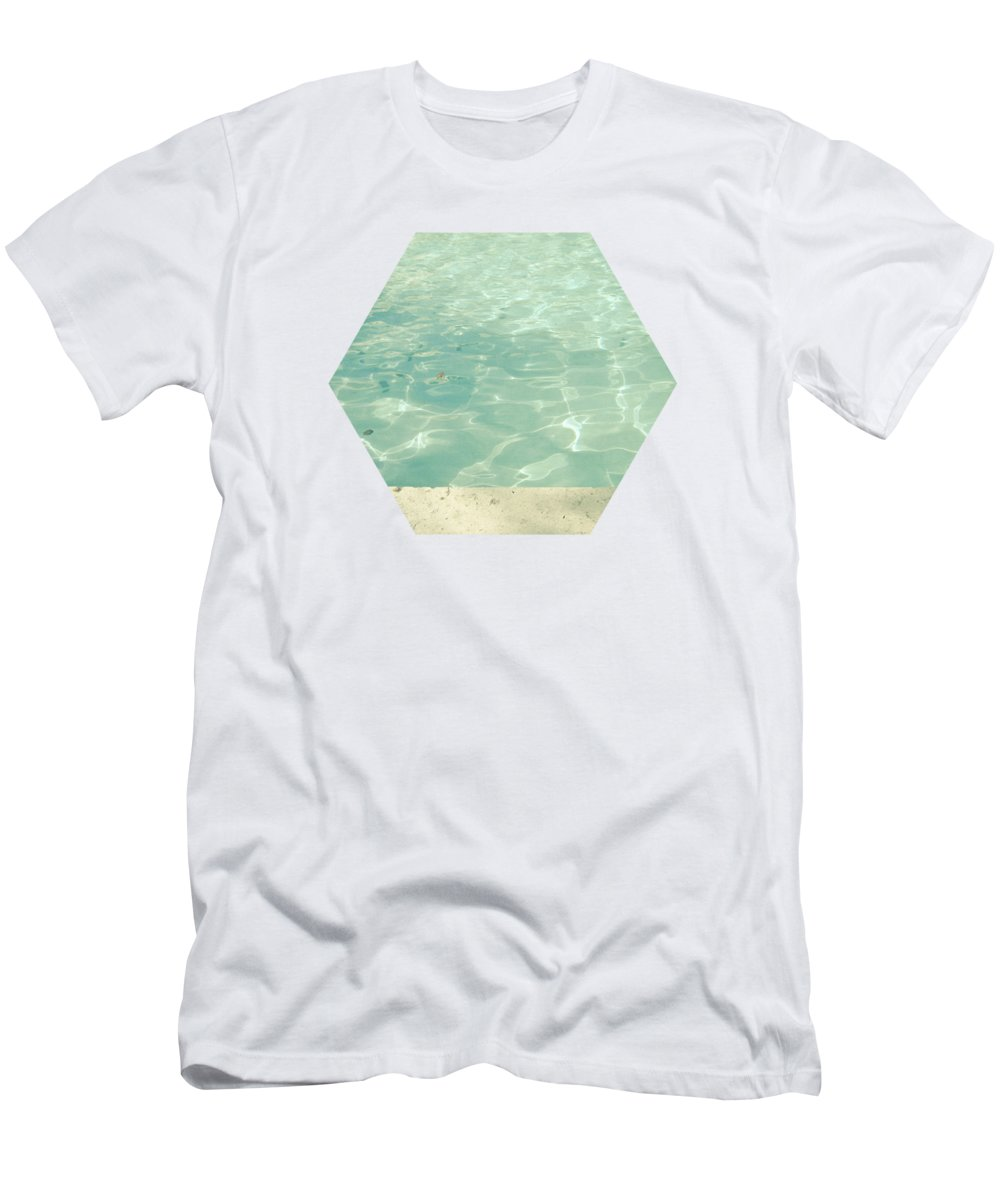 Swimming Pool T-Shirt featuring the photograph Morning Swim by Cassia Beck