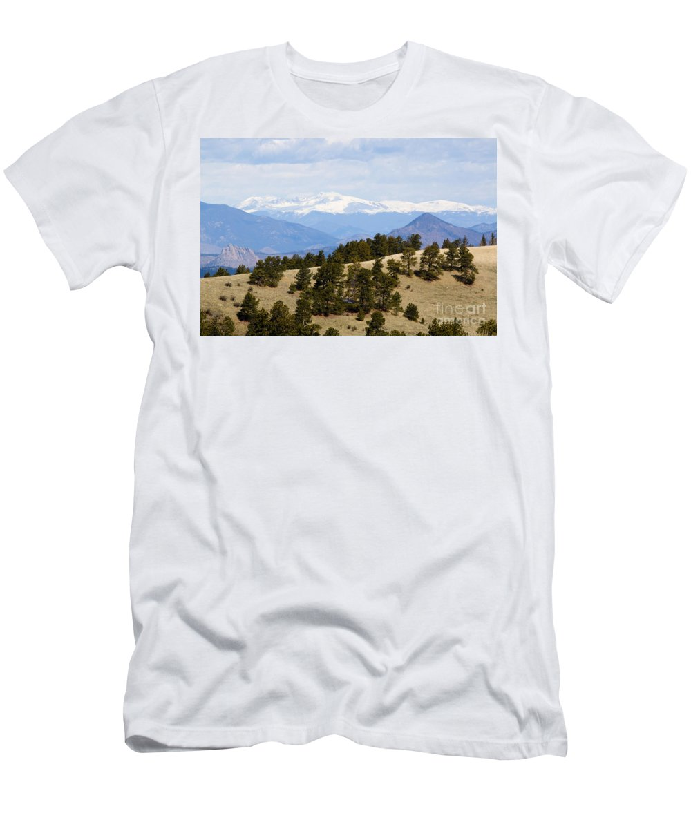 Mosquito Range Mountains Men's T-Shirt (Athletic Fit) featuring the photograph Mosquito Range Mountains From Bald Mountain Colorado by Steve Krull