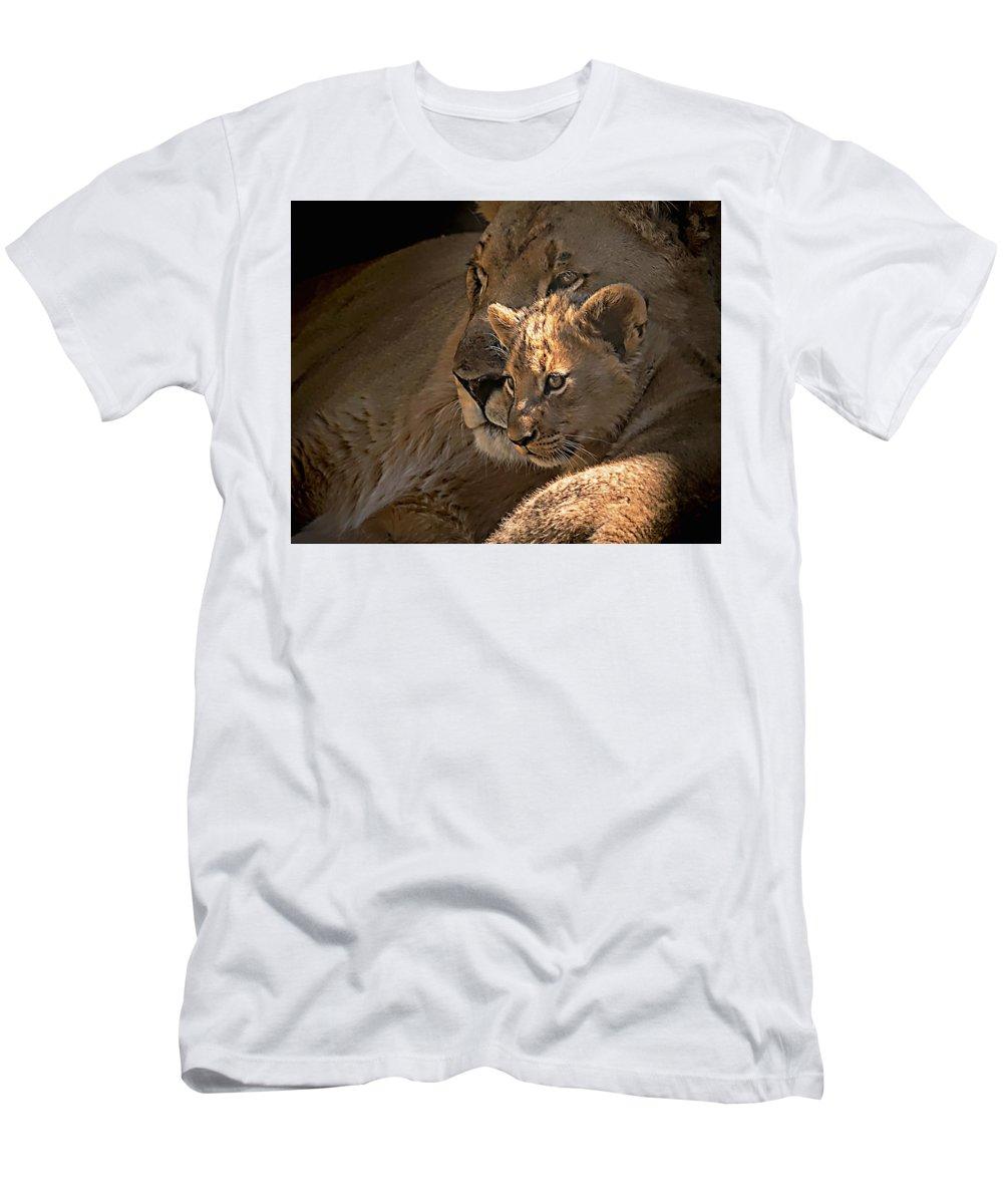Motherhood Men's T-Shirt (Athletic Fit) featuring the photograph Motherhood by Dawn Van Doorn