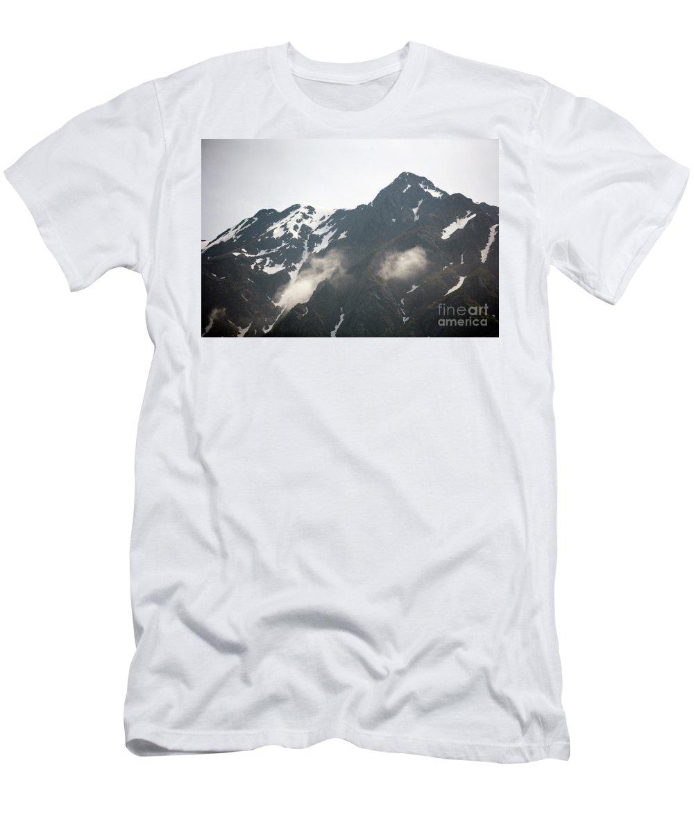 Alaska Men's T-Shirt (Athletic Fit) featuring the photograph Mountain Alaska A by Chuck Kuhn
