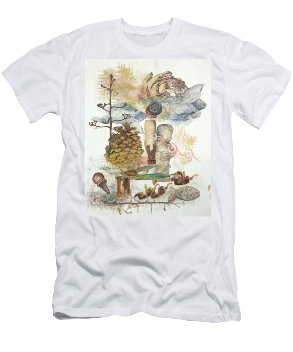 Abstract Men's T-Shirt (Athletic Fit) featuring the painting Move Along by Valerie Meotti