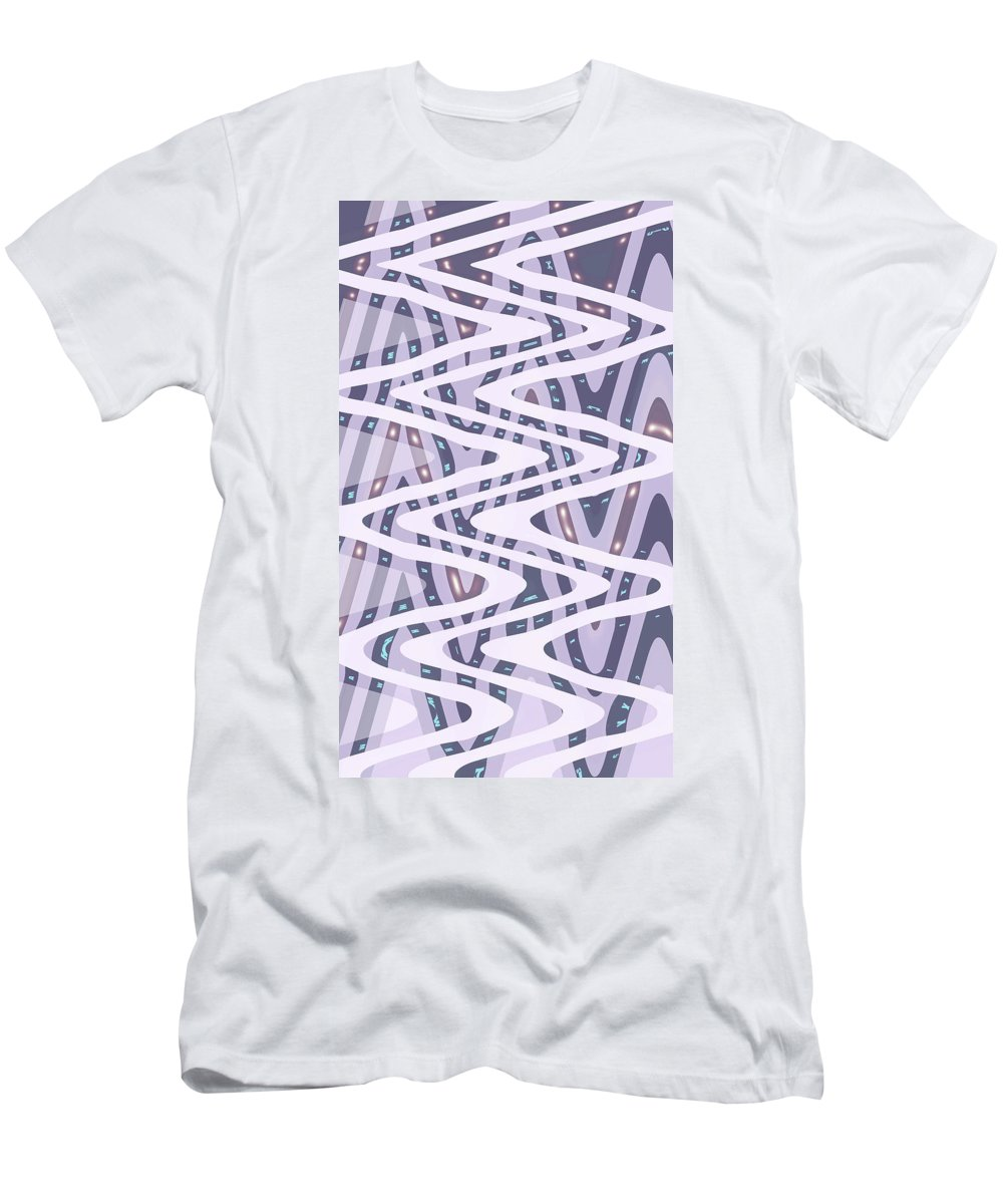 Moveonart Digital Gallery San Francisco California North Beach Jacob Kane Kanduch Men's T-Shirt (Athletic Fit) featuring the digital art Moveonart Dreamers Waves by Jacob Kanduch