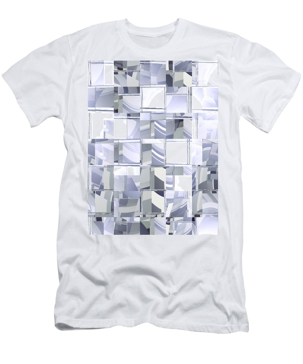 Moveonart Digital Gallery Lower Nob Hill Jacob Kanduch San Francisco California Men's T-Shirt (Athletic Fit) featuring the digital art Moveonart Insightful Memory 1 by Jacob Kanduch