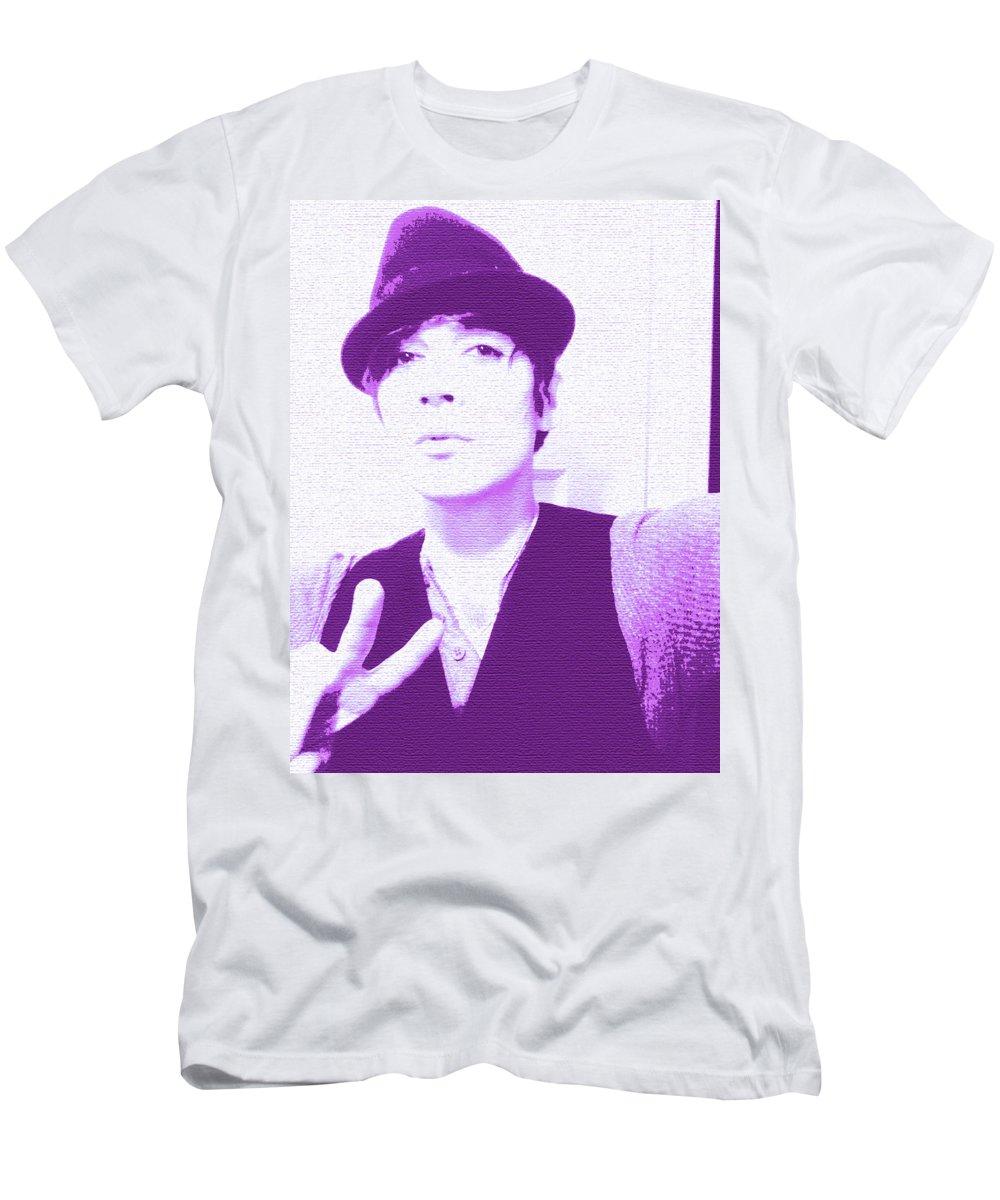 Moveonart! New York / San Francisco / Oklahoma / Portland / Missoula Jacob Kanduch Men's T-Shirt (Athletic Fit) featuring the digital art Moveonart Jacob Violet by Jacob Kanduch
