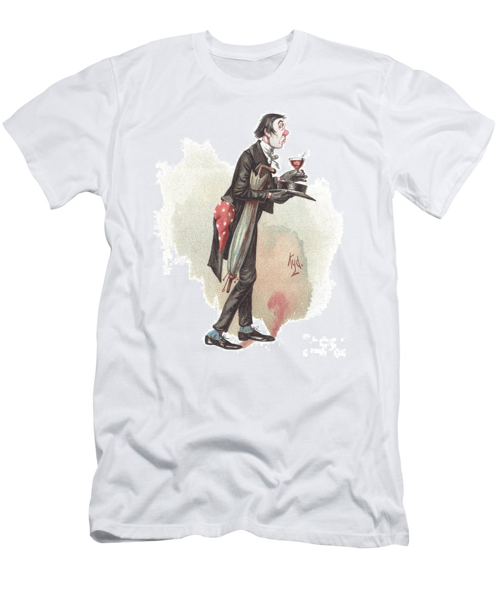Antique Men's T-Shirt (Athletic Fit) featuring the drawing Mr. Stiggins by Joseph Clayton Clarke