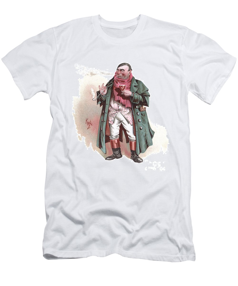 Antique Men's T-Shirt (Athletic Fit) featuring the drawing Mr. Weller, Senior by Joseph Clayton Clarke