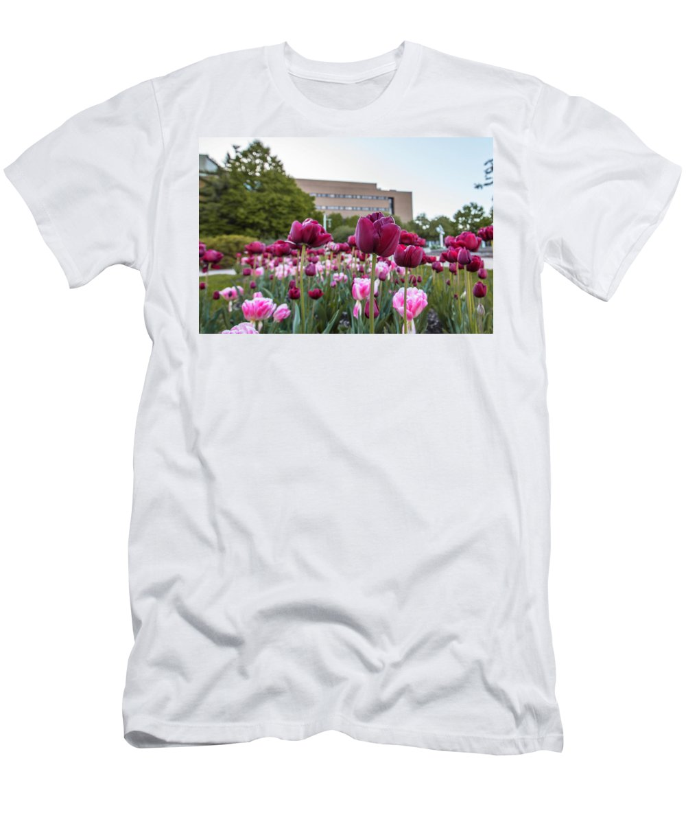 Big Ten Men's T-Shirt (Athletic Fit) featuring the photograph Msu Spring 21 by John McGraw