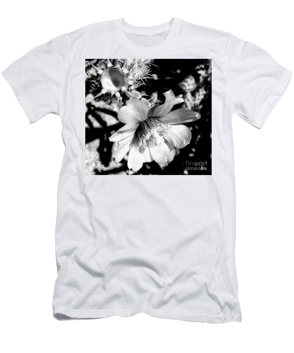 Arizona Men's T-Shirt (Athletic Fit) featuring the photograph My Desert Rose by Janet Marie