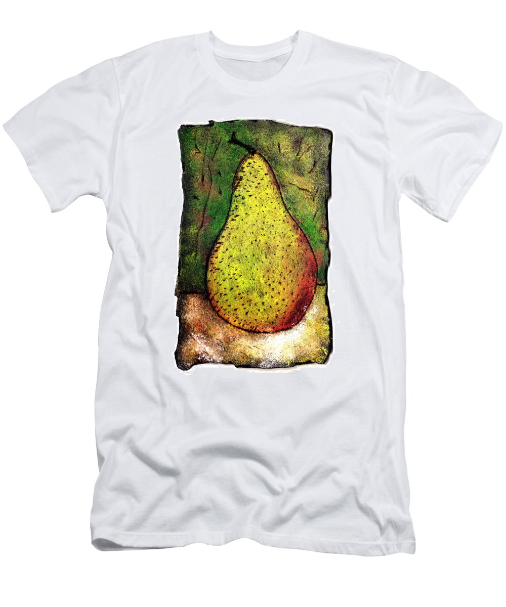 Pear Men's T-Shirt (Athletic Fit) featuring the painting My Favorite Pear One by Wayne Potrafka
