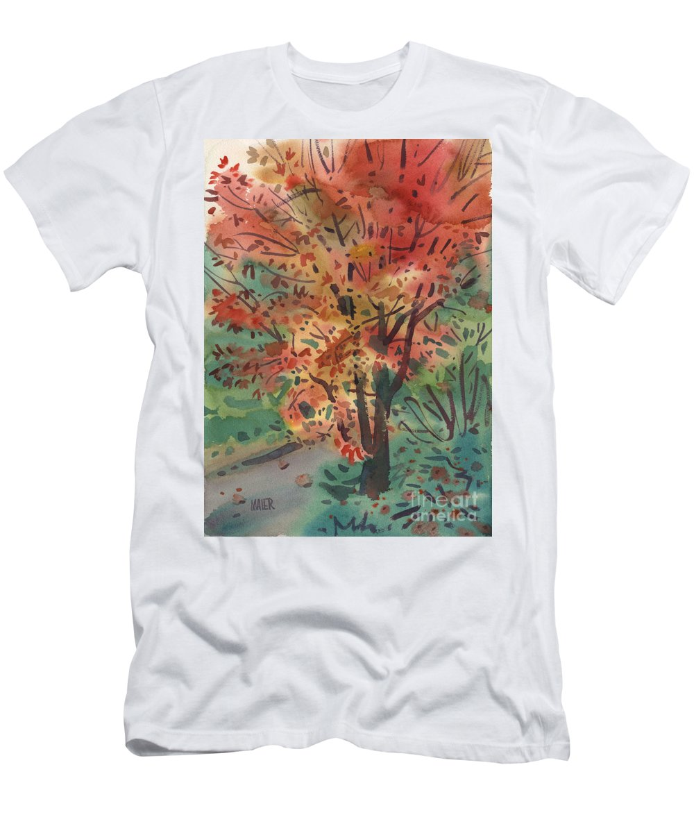 Maple T-Shirt featuring the painting My Maple Tree by Donald Maier
