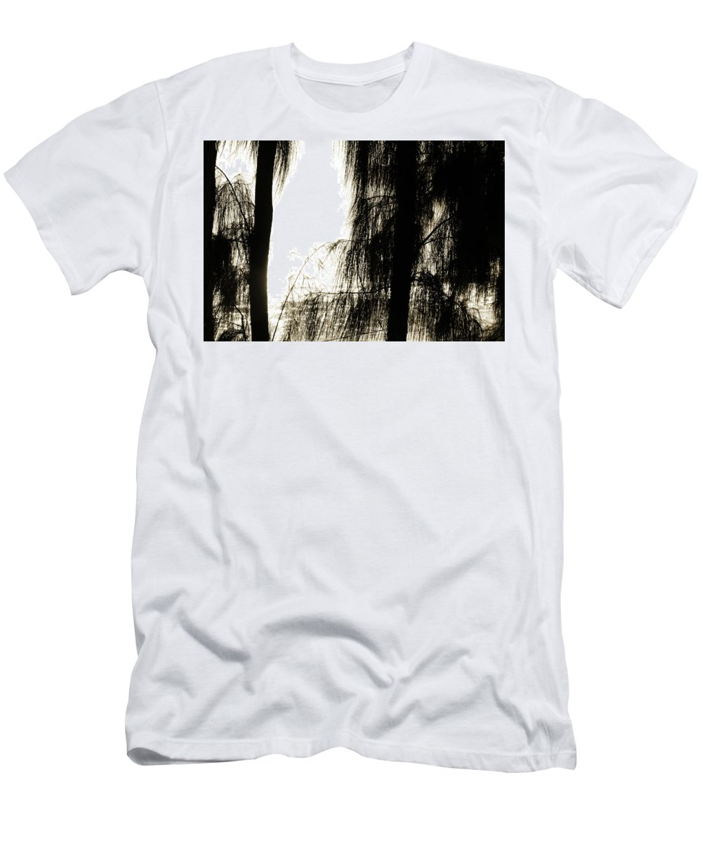 Trees Men's T-Shirt (Athletic Fit) featuring the photograph Mystery Ocean by Gabrielle Yap