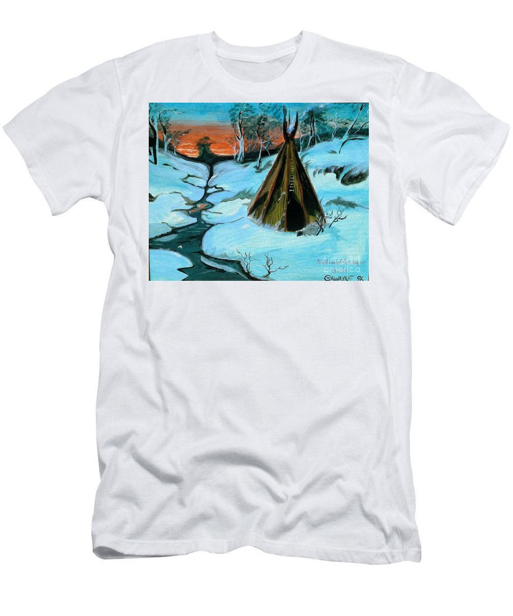 Landscape Men's T-Shirt (Athletic Fit) featuring the painting Mystory by Nathaniel Gawayne Sutton