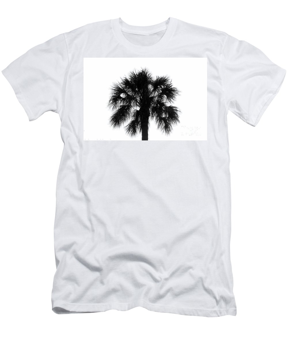 Palm Tree Men's T-Shirt (Athletic Fit) featuring the photograph Naked Palm by David Lee Thompson
