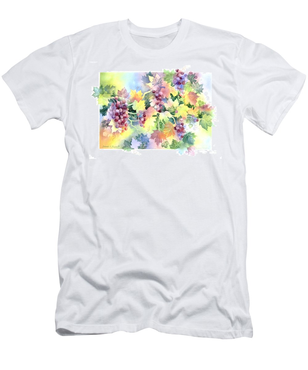 Napa Valley Men's T-Shirt (Athletic Fit) featuring the painting Napa Valley Morning by Deborah Ronglien