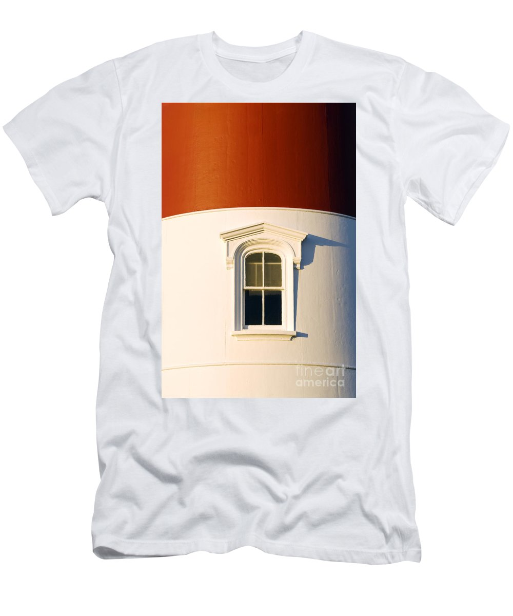 cape Cod Men's T-Shirt (Athletic Fit) featuring the photograph Nauset Light Detail by John Greim