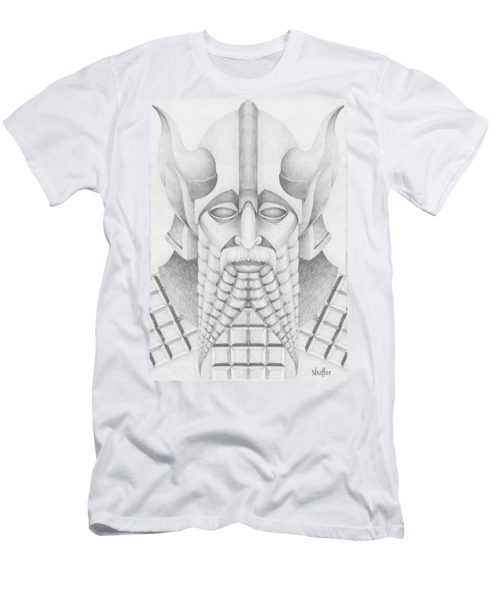 Babylonian Men's T-Shirt (Athletic Fit) featuring the drawing Nebuchadezzar by Curtiss Shaffer