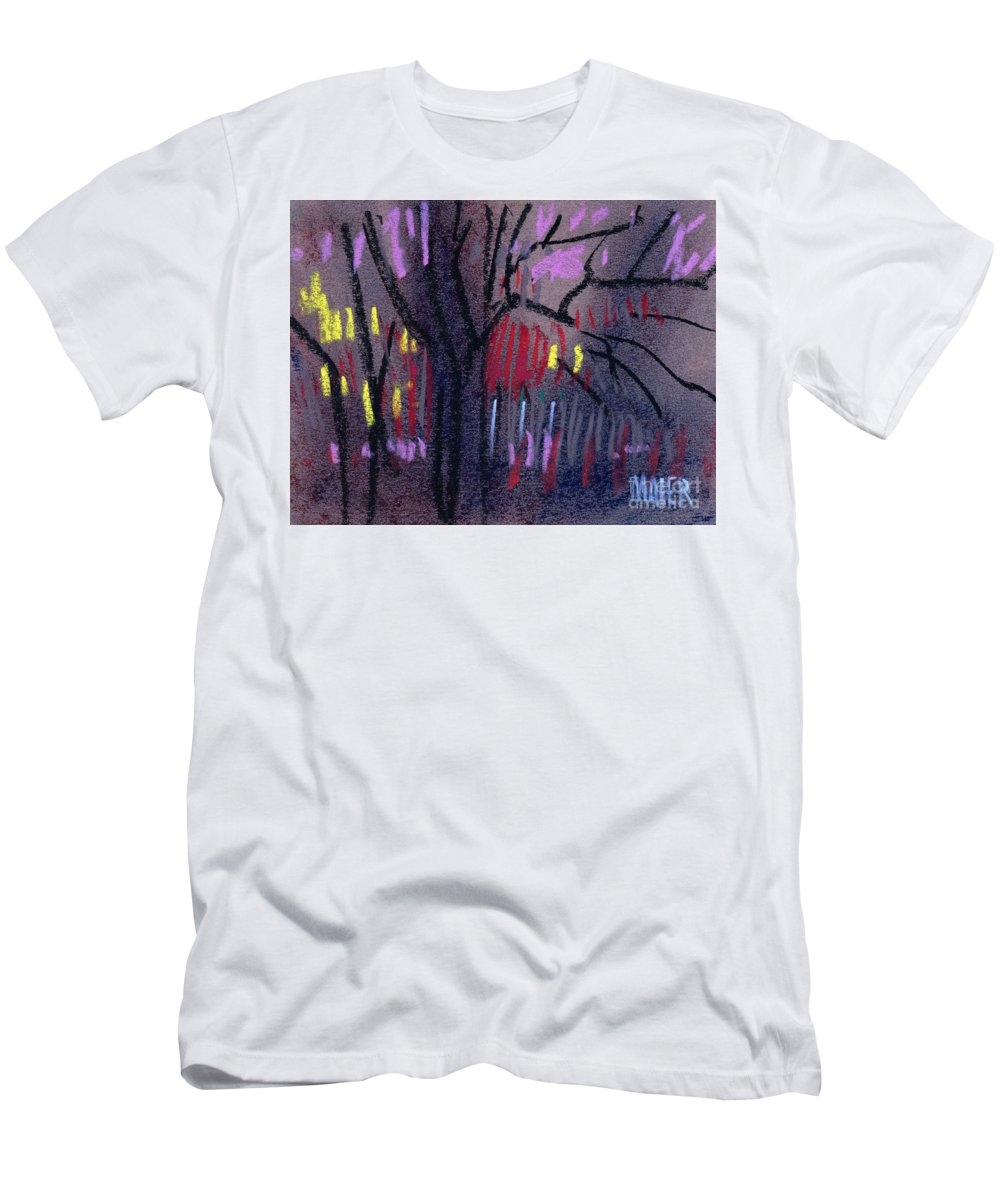 Abstract Men's T-Shirt (Athletic Fit) featuring the drawing Neighbor's Lights by Donald Maier