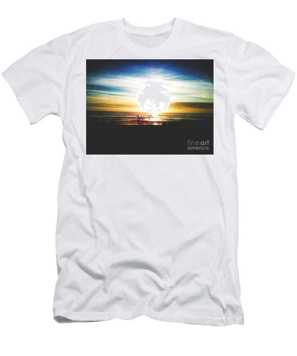 Beach Men's T-Shirt (Athletic Fit) featuring the painting Neskowin by Shanhan Truitt-Roos