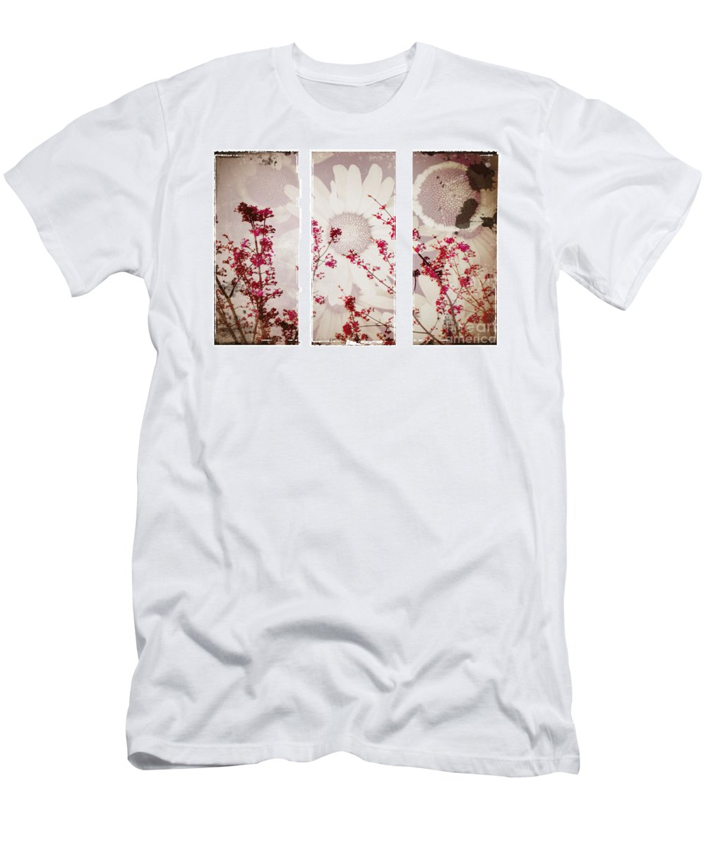Flowers Men's T-Shirt (Athletic Fit) featuring the photograph New Beginnings by Tara Turner