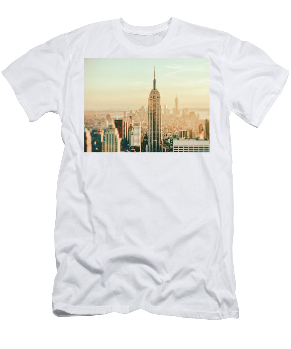 Nyc T-Shirt featuring the photograph New York City - Skyline Dream by Vivienne Gucwa