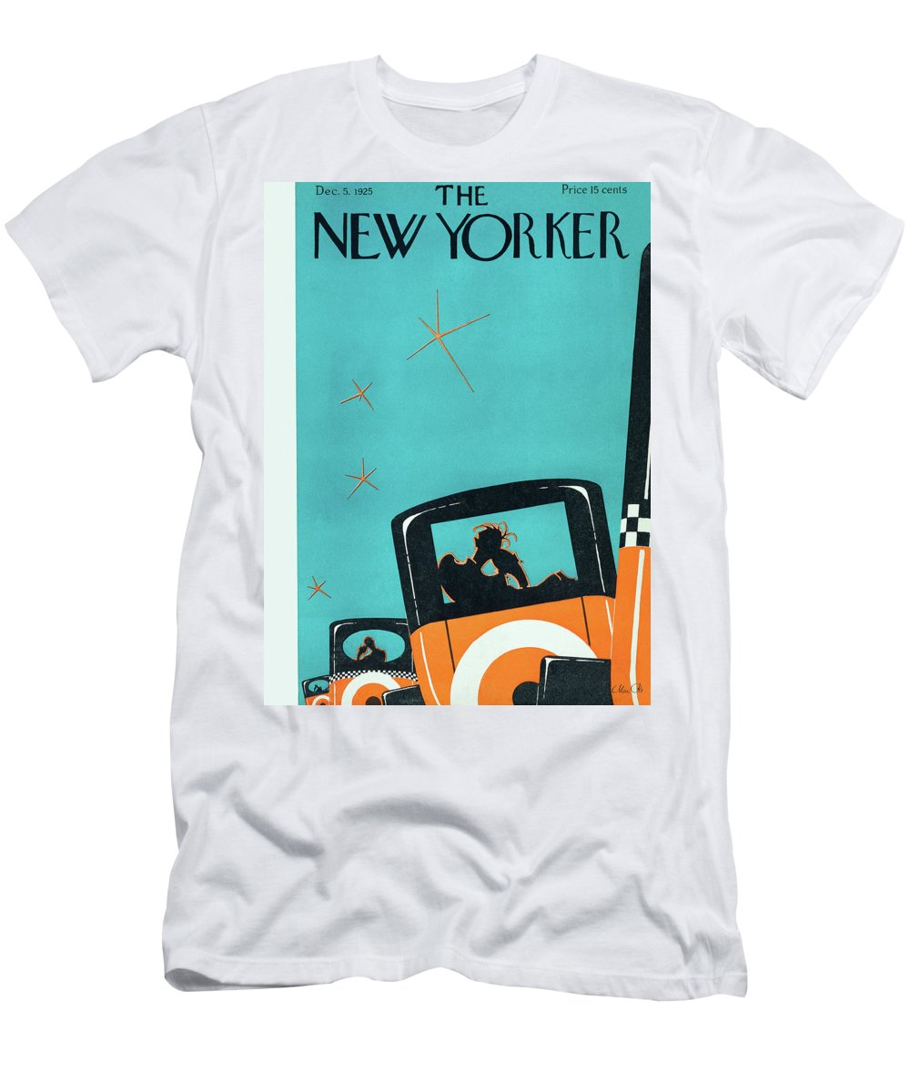 Car Men's T-Shirt (Athletic Fit) featuring the painting New Yorker December 5 1925 by Max Ree