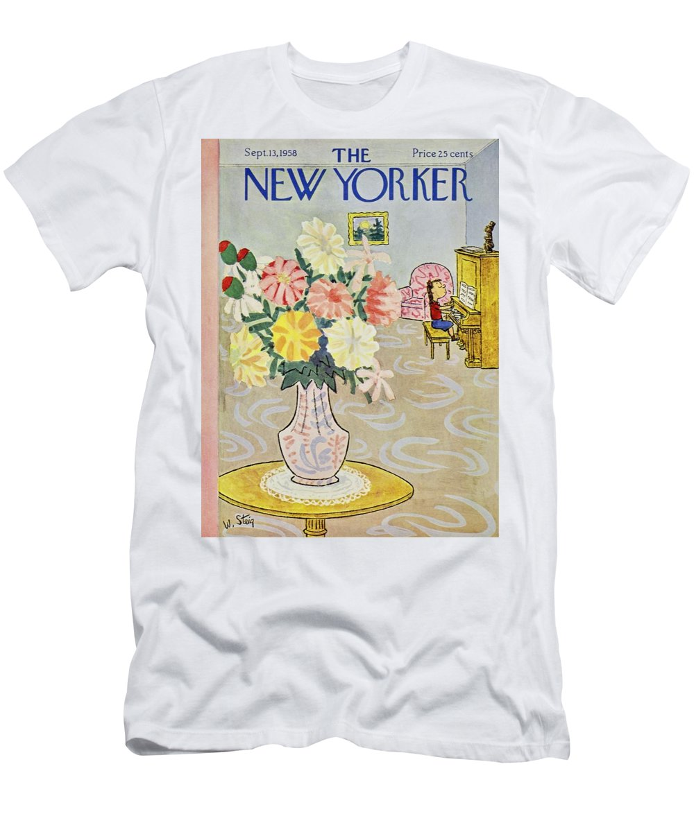 Illustration T-Shirt featuring the painting New Yorker September 13 1958 by William Steig