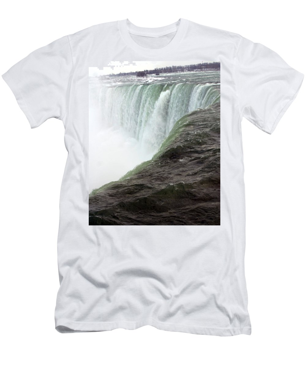 Niagara Falls Men's T-Shirt (Athletic Fit) featuring the photograph Niagara Falls 1 by Anthony Jones