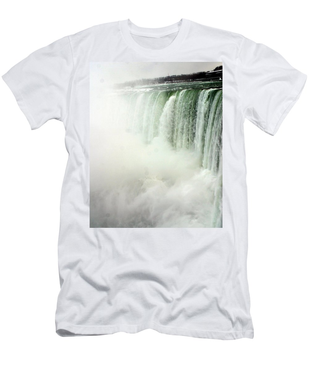 Landscape Men's T-Shirt (Athletic Fit) featuring the photograph Niagara Falls 4 by Anthony Jones