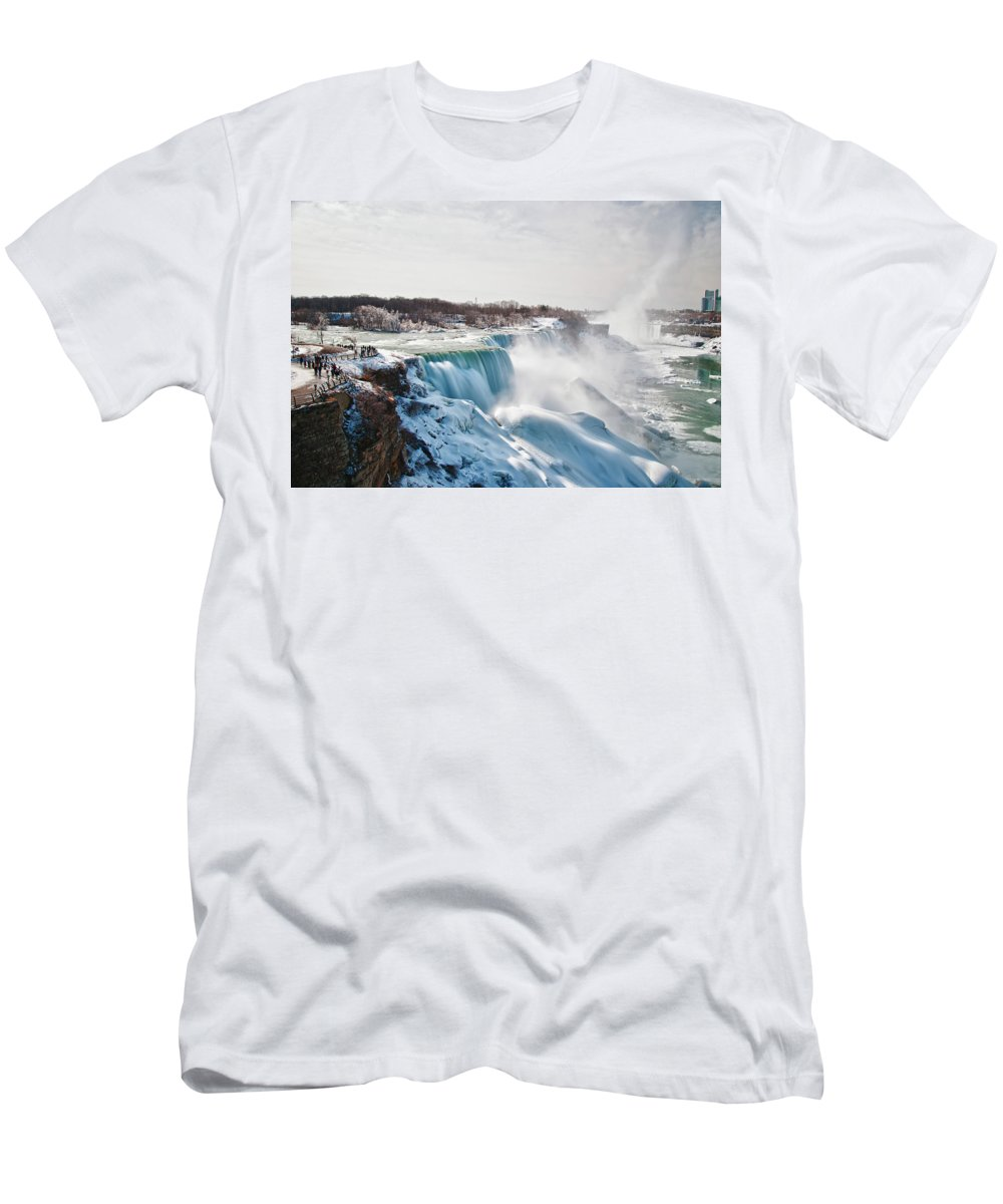 Niagara Falls Men's T-Shirt (Athletic Fit) featuring the photograph Niagara Falls 4589 by Guy Whiteley