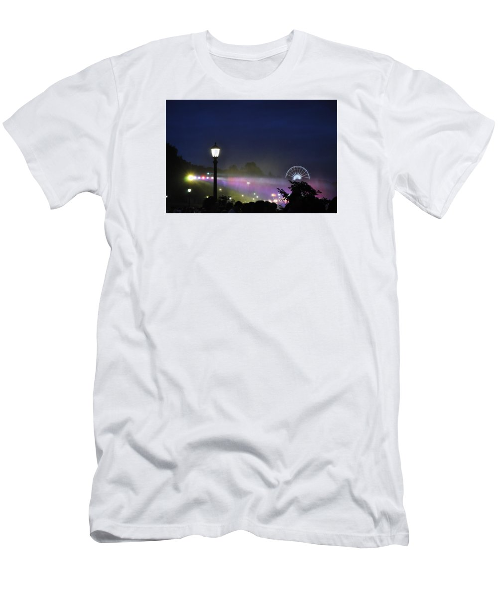 Romance Men's T-Shirt (Athletic Fit) featuring the photograph Niagara Glimmers by Qadeer