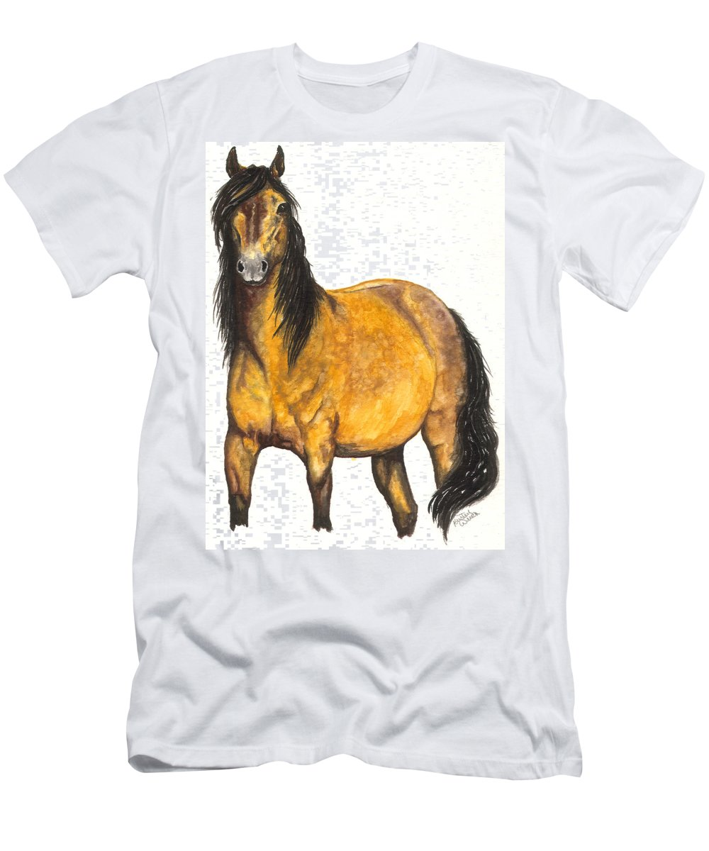 Horse Men's T-Shirt (Athletic Fit) featuring the painting Nifty by Kristen Wesch
