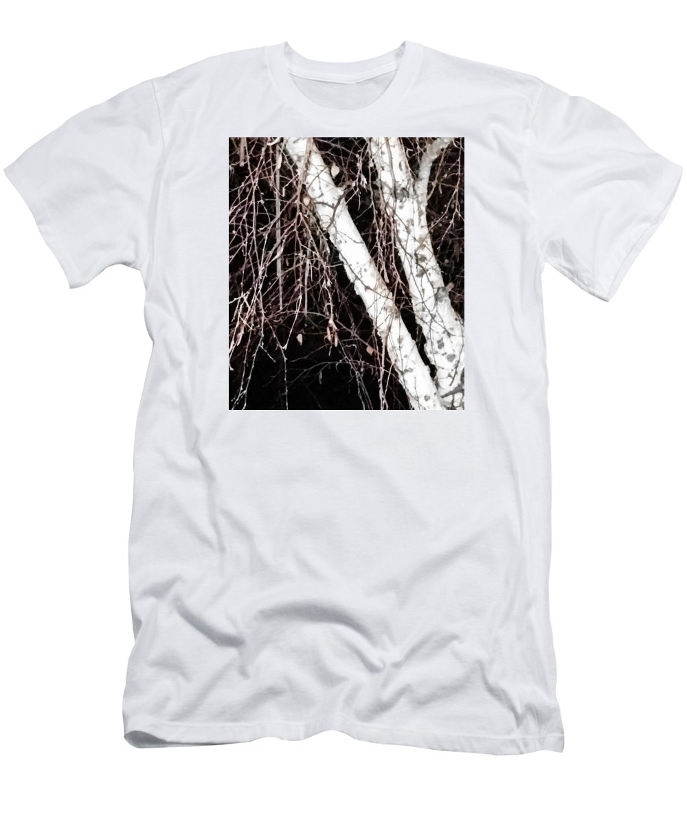 Men's T-Shirt (Athletic Fit) featuring the photograph Night Branches by Heather Joyce Morrill
