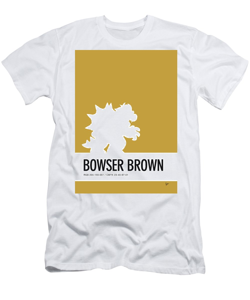 Mario Men's T-Shirt (Athletic Fit) featuring the digital art No38 My Minimal Color Code Poster Bowser by Chungkong Art