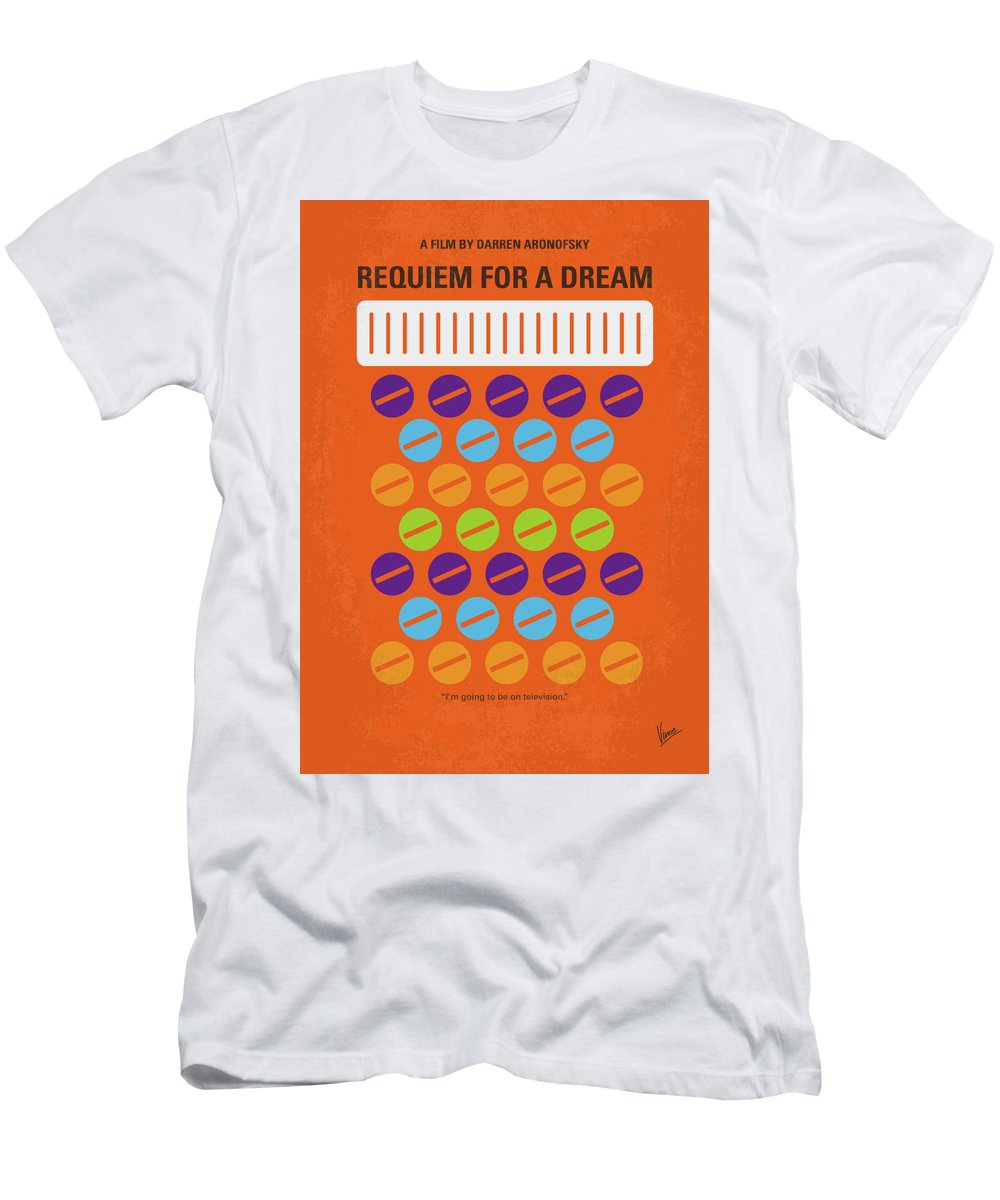 Requiem Men's T-Shirt (Athletic Fit) featuring the digital art No858 My Requiem For A Dream Minimal Movie Poster by Chungkong Art