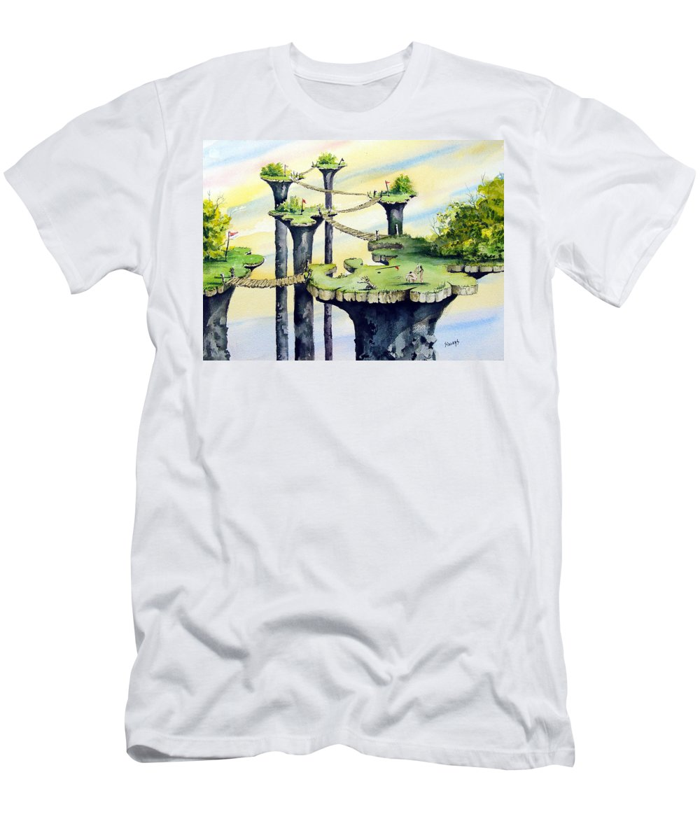 Golf Men's T-Shirt (Athletic Fit) featuring the painting Nod Country Club by Sam Sidders