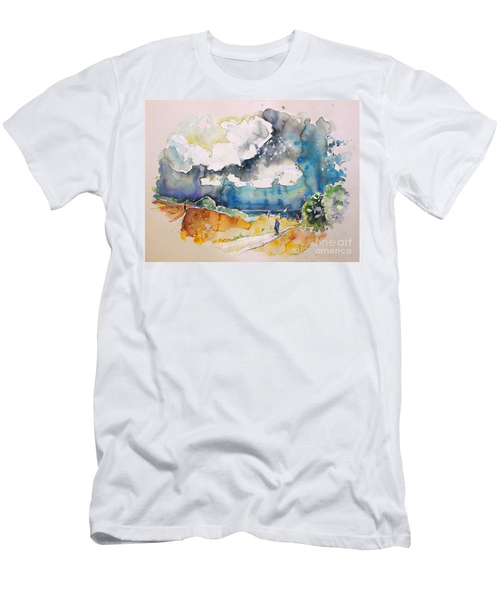 France Men's T-Shirt (Athletic Fit) featuring the painting North Of France 04 by Miki De Goodaboom