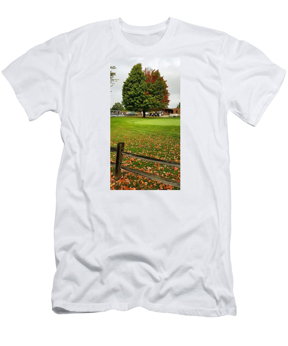 Fall Men's T-Shirt (Athletic Fit) featuring the photograph Northeast Ohio by Yazid Ismail