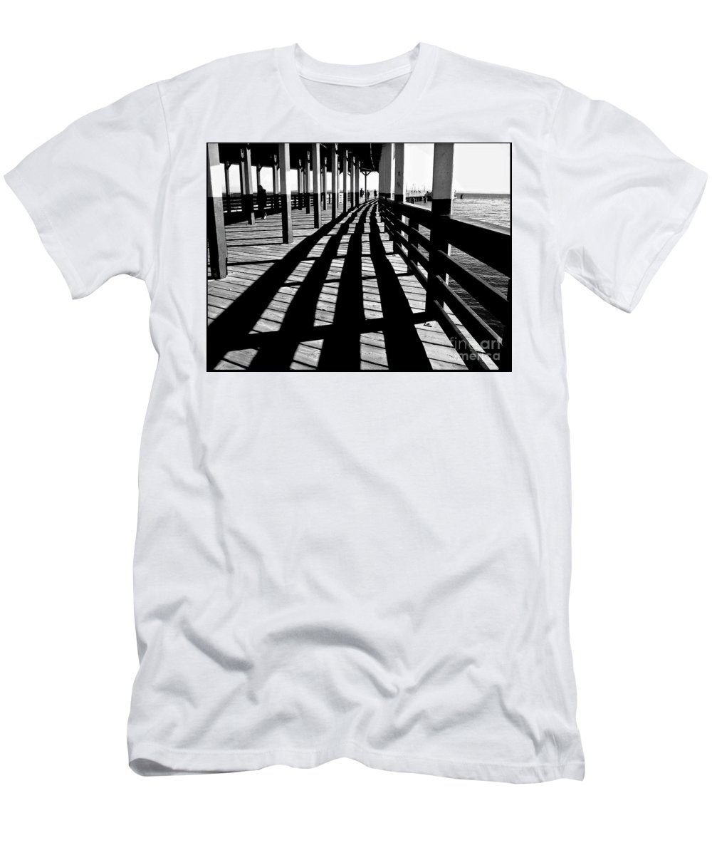 Pier Men's T-Shirt (Athletic Fit) featuring the photograph Nostalgic Walk On The Pier by Carol F Austin