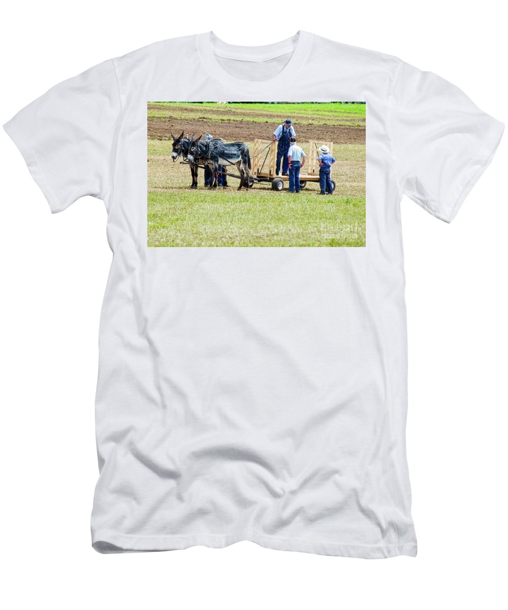 Donkeys Men's T-Shirt (Athletic Fit) featuring the photograph Not A Mule by David Arment